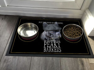 Peaky Barkers French Bulldog dog - Pet Dog Feeding mat 60 x 40 cm Mat