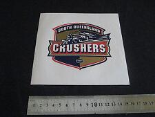ARL SOUTH QUEENSLAND CRUSHERS STICKER 16cm Round - NEW!