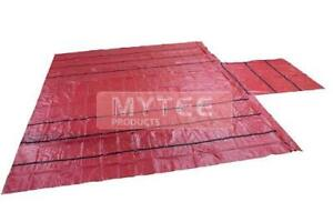 Vinyl Flatbed Tarps 18oz Lumber Tarp 20x27 (6' Drop) - Red
