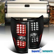 For 2009-2014 Ford F150 Pickup LED Brake Lamps Tail Lights Black