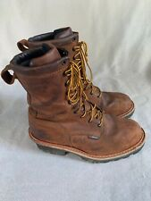 "Redwing Loggermax 4420 8"" waterproof boots-Men's 9.5-excellent cond."