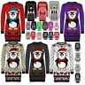 Womens Ladies Snowman Xmas Christmas Tree Knitted Dress Sweater Long Jumper Top