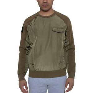 Sean John Mens Green Comfy Cozy Sweatshirt, Crew Loungewear L BHFO 4039