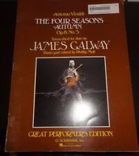 Vivalidi Four Seasons Autumn Op8. No3 Transcribed for Flute  by James Galway