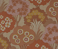 PINK DANISH ORIGINAL MID-CENTURY Modern Botanical Trees Wallpaper 1960s 70s