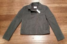Ann Taylor LOFT Quilted Moto Jacket Women's Size S Grey Zip Front NWT SR$128