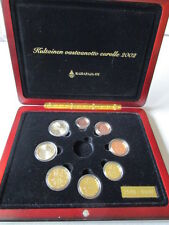 KMS Finnland 2002 Proof / PP  1 Cent - 2 Euro ohne without Goldtoken