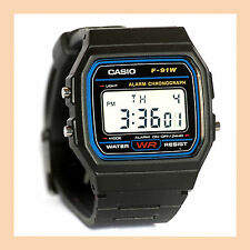 100% Genuine Casio F91W Digital Watch Classic Vintage Retro F-91-W-1 Original