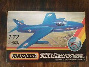 """MATCHBOX - HAWKER HUNTER T.MK.7 - """"BLUE DIAMOND"""" - RAF.92 SQDN DISPLAY TEAM"""