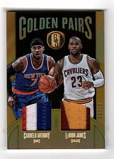2016-17 Panini Gold standard LeBRON JAMES CARMELO ANTHONY Dual Jersey Patch /15