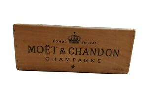 Wooden Storage Box Crate | Moet & Chandon  Champagne | Vintage Style Collectable