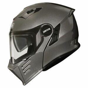 Flip Front Helmet > Simpson Darksome Carbon Fibre Pinlock DVS - Gun Metal