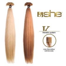 She - Extension alla Cheratina Capelli Veri Hair 100% 55/60 cm 5 x 10 Ciocche
