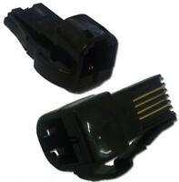 'BLACK'  RJ11 to BT Telephone Phone Socket Plug Adaptor Converter US to UK