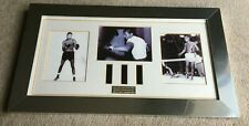 Framed presentation of Sugar Ray Robinson vintage Film Cells or Strips