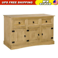 Sideboard Solid Mexican Pinewood Corona Range 3 Doors Cabinet Cupboard Furniture