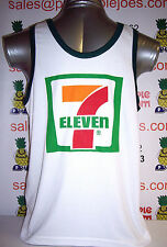 Seven Eleven 7/11 Singlet Vest Top White size L **UK STOCK** New