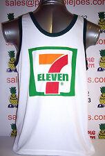 Seven Eleven 7/11 Singlet Chaleco Top Blanco Talla L Reino Unido Stock ** nuevo **