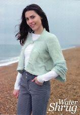 "~ Knitting Pattern For Lady's Rippling Water Design Bolero Shrug ~ 32"" ~ 50"" ~"