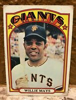 1972 Topps #49 Willie Mays HOF Low Grade No creases