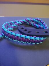 Neon Teal And acid purple Bling Sling, Archery bow wrist sling Free Shipping