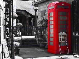 CULTURAL LANDSCAPE PHONE BOX RED BLACK WHITE COOL POSTER PRINT BB15B