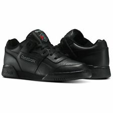 Reebok Classic Workout Plus 2760 Black Leather Trainers UK 10