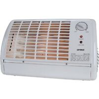 Optimus Portable Fan Forced Radiant Heater with Thermostat (h2210)