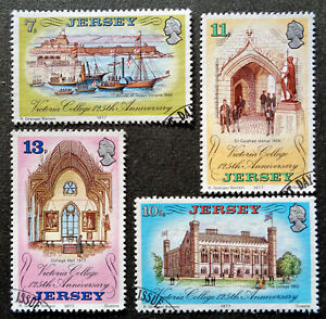 CHANNEL IS - JERSEY#179-182 used 1977 Victoria College set. We combine shipping