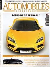REVUE MAGAZINE AUTOMOBILES CLASSIQUES N°200 11/2010 LOTUS MAZDA SHINARI PEUGEOT