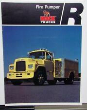 1978 Mack Fire Pumper Features Sales Brochure Original