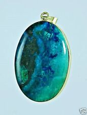 Genuine Eilat stone Israel & 14k yellow gold pendant ! high quality jewelry