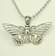 Cremation Jewelry, Lacy Butterfly Urn Necklace, Holds Human or Pet Ashes