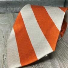 International Hockey League Merge Left Orange and Cream Vertical Stripped Silk