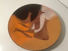 Decorative Copper Metal Bowl/ Plate Birds Gold Tone Modern Contemporary