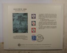 BEP card B 97 Houpex 1986 three Statue of Liberty visitor cancelled ERROR