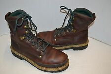 """Mens Georgia 8"""" Giant Steel Toe 9 M Brown Leather LACE Safety Work Boot  G8374"""