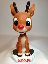 """Rudolph The Red Nose Reindeer Bobblehead Christmas Holiday Collectible 6"""" Figure"""