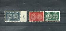 Israel Scott #7-9 Doar Ivri High Value Singles MNH, 1000m With Serial Number!!