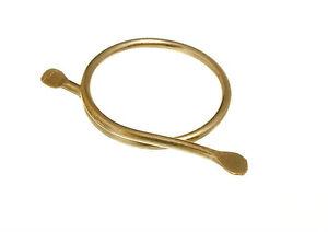 "50 BRASS CURTAIN / ROMAN BLIND SPLIT RINGS 3/4"" 19mm"