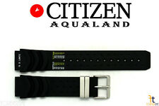 Citizen JP1000-03E Aqualand 20mm Black Rubber Watch Band S/S Buckle JP1004-02L