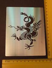 Inoxydable/acier/pochoir/oblongue/oriental/dragon/1 A/Gaufrer/Grand/Décoration