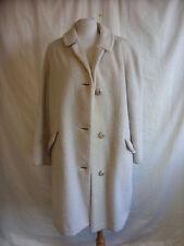 Mesdames manteau-de luxe mohair, taille l, crème, mohair, utilisé, marks, porté zones 2316