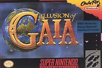 Illusion Of Gaia Super Nintendo SNES AUTHENTIC VERY GOOD CONDITION