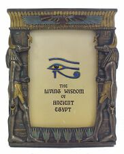 Veronese Bronze Figurine Egyptian Anubis Picture Frame Wall Hanging Home Decor