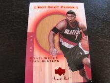 2001-02 Sweet Shot Hot Spot Floor Bonzi Wells Floor Card (B46) Trailblazers