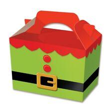 50 x cajas de alimentos de Túnica con elfo de Navidad botín de Almuerzo Cartón Regalo Niños de alimentos