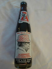Excellent, Coca-Cola Bottle, Bear Bryant Commemorative, Only One Per Customer!