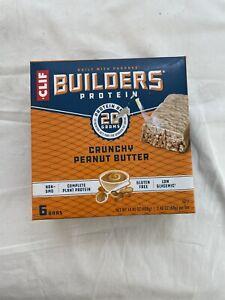 CLIF Builders 20g Protein Bar 2.4 oz 6 Bars CRUNCHY PEANUT BUTTER 3/21