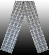 NEW HUGO BOSS Golf Golfing Plaid Designer Tartan Leisure Pants Trousers 34R 50